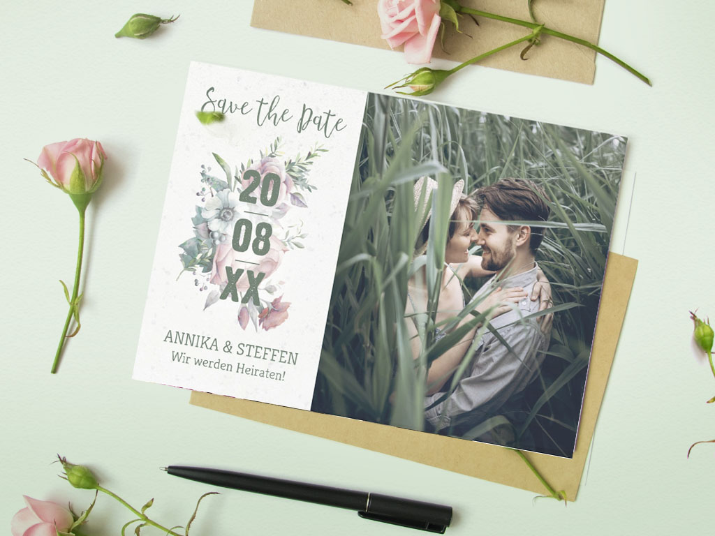 moderne Save the Date Karte